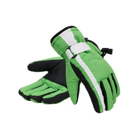 Women 3M Thinsulate Lined Waterproof Snowboard / Ski Gloves,M,Green White (Burton Womens Snowboard Mittens)