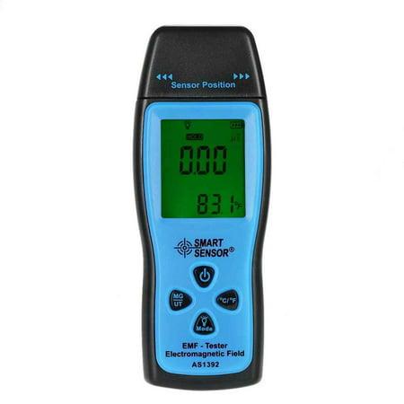 SMART SENSOR AS1392 Handheld Electromagnetic Radiation Detector Digital LCD EMF Meter 0-2000mG Dosimeter Tester