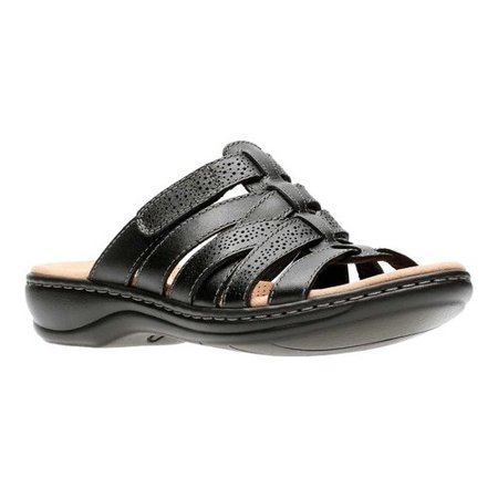 c7965ffbd8e4 Clarks - Clarks 26134085  Leisa Field Womens Black Leather Sandals (7 B(M) US  Women) - Walmart.com