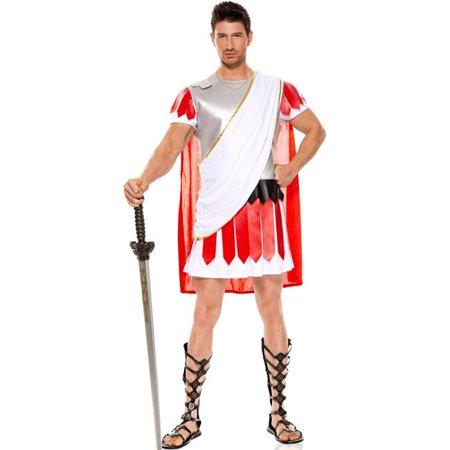Music Legs 76016-XL 3 Piece Hunk Julius Caesar Costume - Metallic Tunic - Extra Large