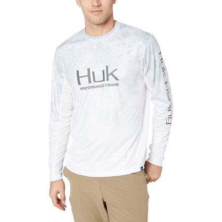 Huk Men's Icon Camo Fade Long Sleeve Shirt, Subzero, LG - H1200155-185-L