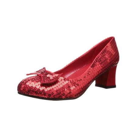 Womens Costume Shoes Sequins Red Ruby Slippers (Ruby Slippers Costume)