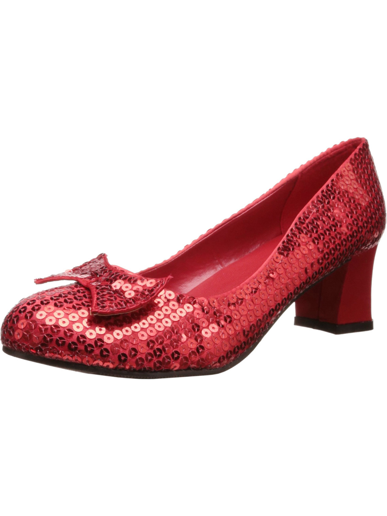 Womens Costume Shoes Sequins Red Ruby Slippers