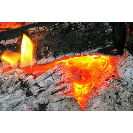 Canvas Print Canvas Print Red Hot Ashes Wood Fire Fireplace Amber Coal Stretched Canvas 10 X 14