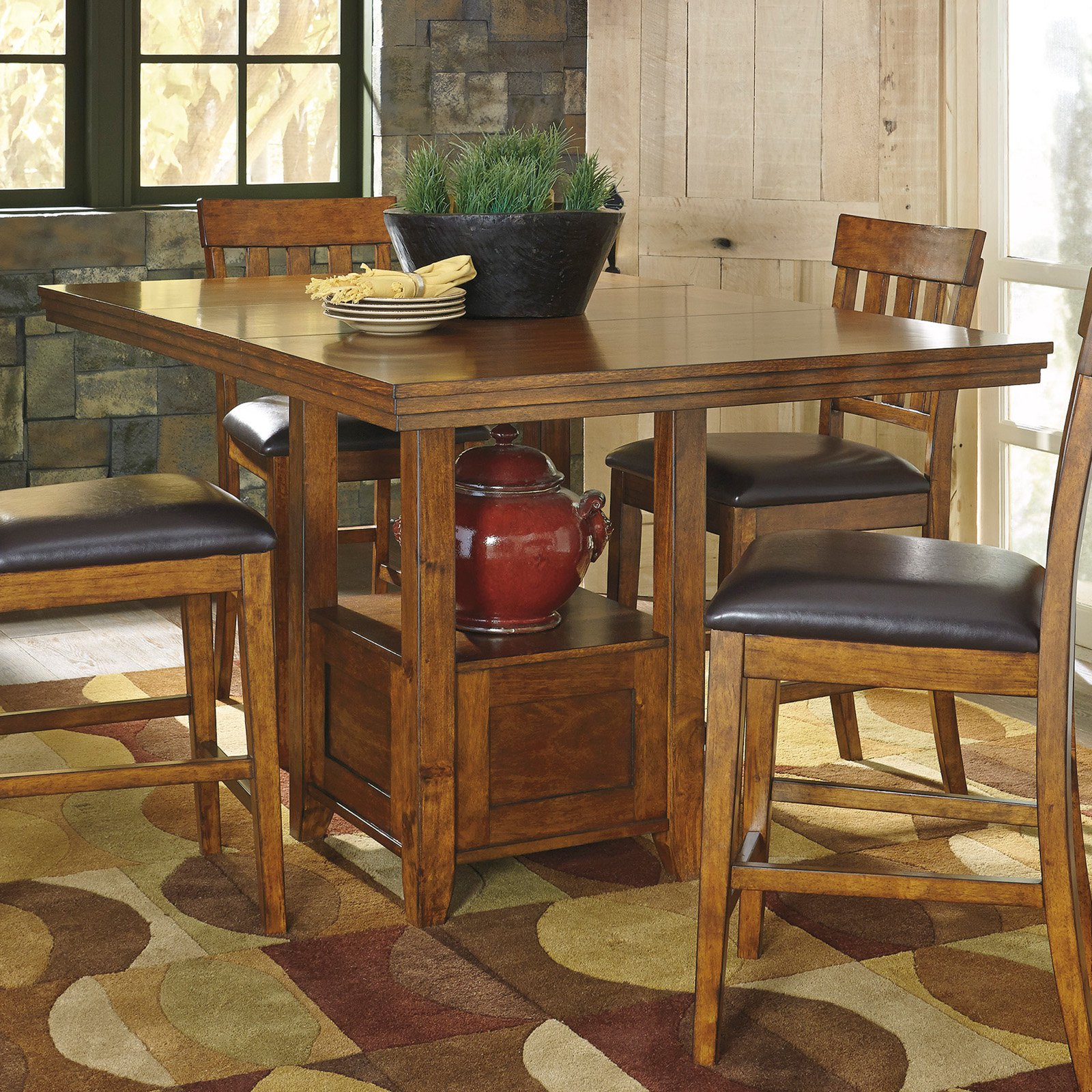 signature design by ashley ralene rectangular counter height dining table - High Tables For Kitchen