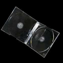 5mm Crystal Clear Slim Double CD Jewel Case with Clear Tray (100 pack)