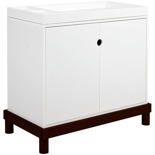 Baby Mod -Modern 2-Door Changing Table, Espresso/White