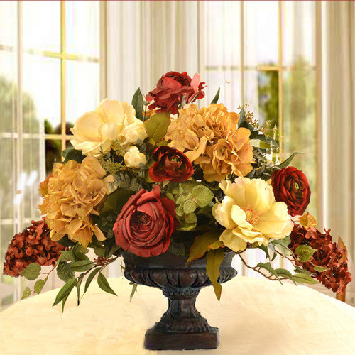 Floral Home Decor Elegant Silk Flower Arrangement