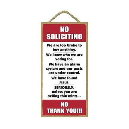 NO SOLICITING Humorous Primitive Wood Hanging Sign 5