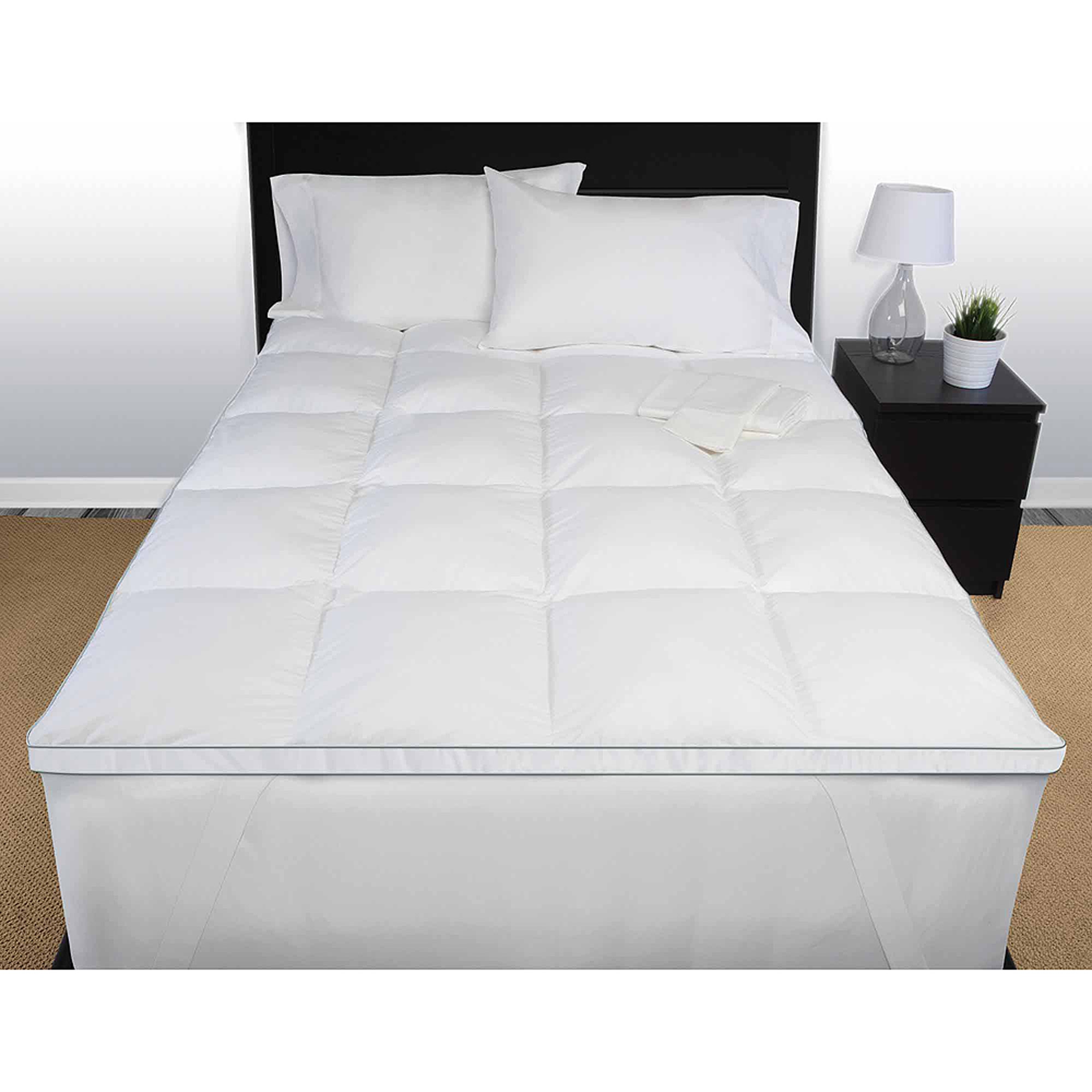 memory bath today overstock shipping foam product inch topper classic mattress and bedding free fiber blend swisslux