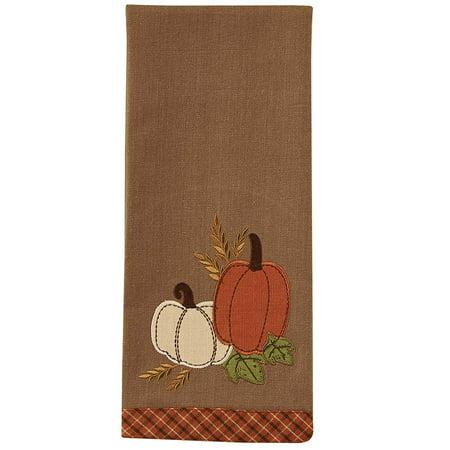 Pumpkin Patch Applique Dishtowel - Set of - Halloween Pumpkin Patch
