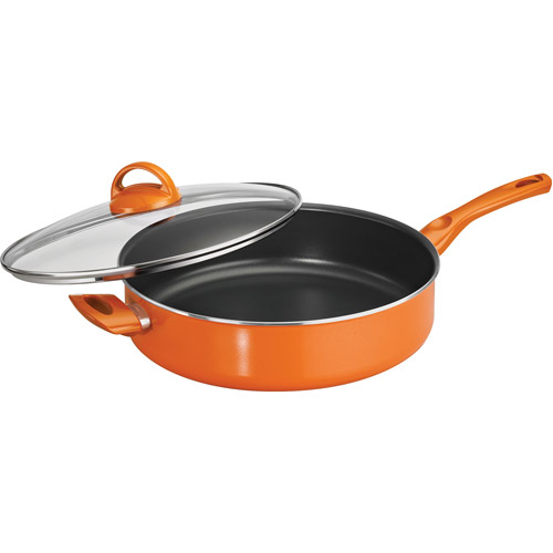 Tramontina Select 5-Quart Non-stick Covered Saut  Pan, Assorted Colors