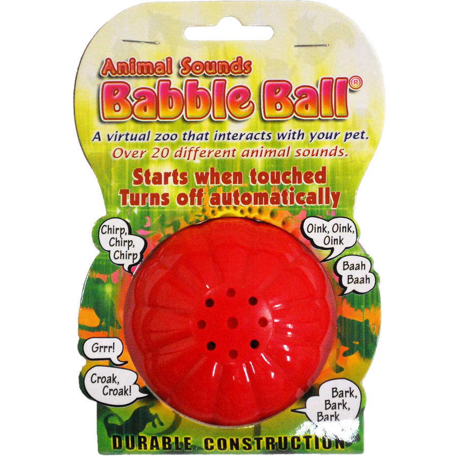 Large Animal Sounds Babble Ball, Red and Yellow