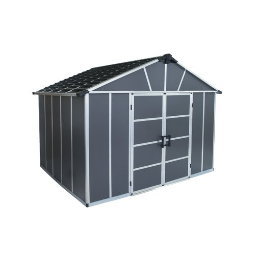 Palram Yukon 10 ft. 11 in. W x 8 ft. 10 in. D Plastic Traditional Storage Shed
