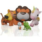 SplashEZ Bath Toys Animal Bathtub Toys for Baby and Toddlers Mold Resistant 5PC Sealed