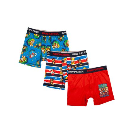 Paw Patrol Poly Boxer Briefs, 3 Pack (Big Boys & Little Boys)