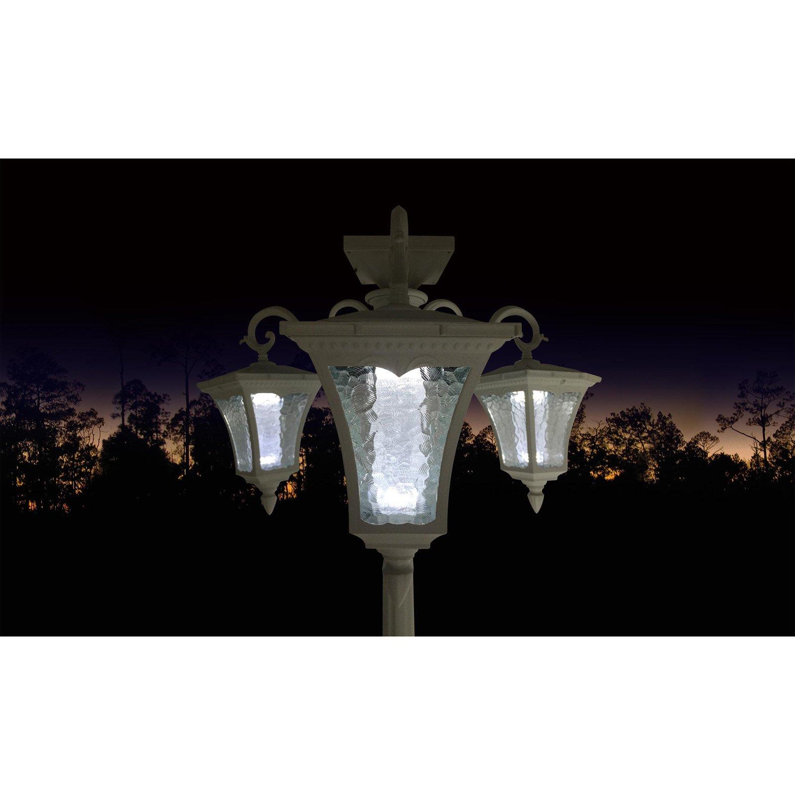 Sun Ray Vittoria Solar Lamp Post And Planter Walmart Com