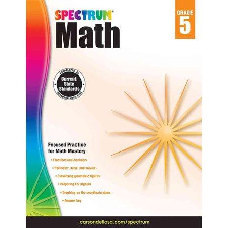 Spectrum Math Workbook  Grade 5