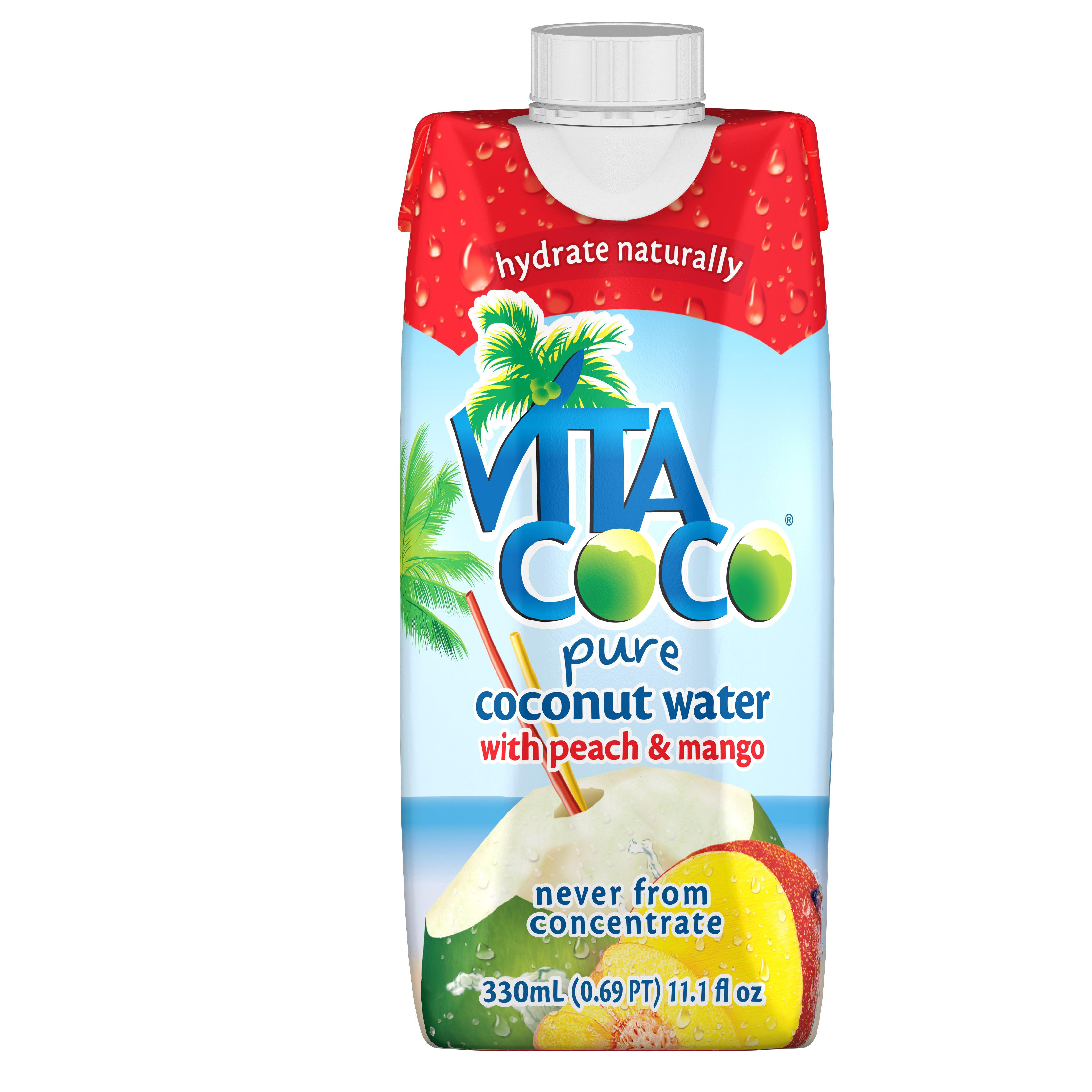 Vita Coco Coconut Water, Peach And Mango, 11.1 Fl Oz, 12 Count