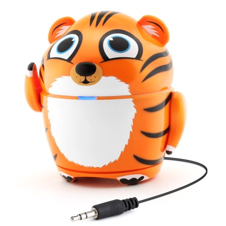 GOgroove Portable Music Player Tiger Speaker with Rechargeable Battery & Retractable 3.5mm Cable- Works with Dragon Touch 7