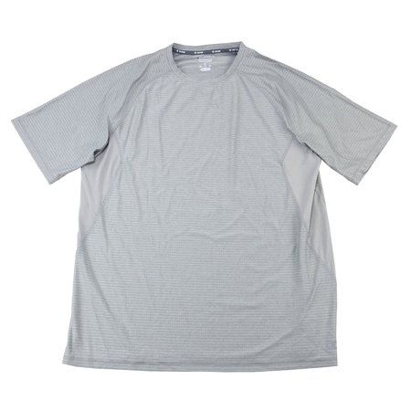 Light Gray Oxford - Champion Performance Men's Size Large Vapor Short Sleeve Shirt, Oxford Grey