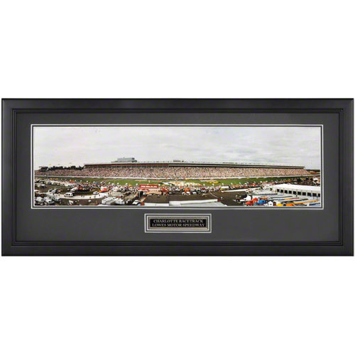 Charlotte Racetrack Lowes Speedway Framed Unsigned Panoramic Photograph