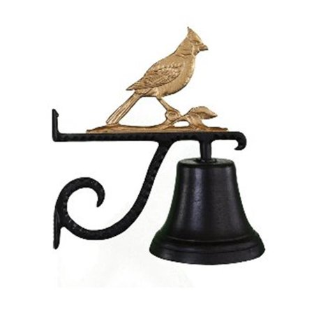 Cast Bell With Gold Bronze Cardinal Ornament - image 1 of 1