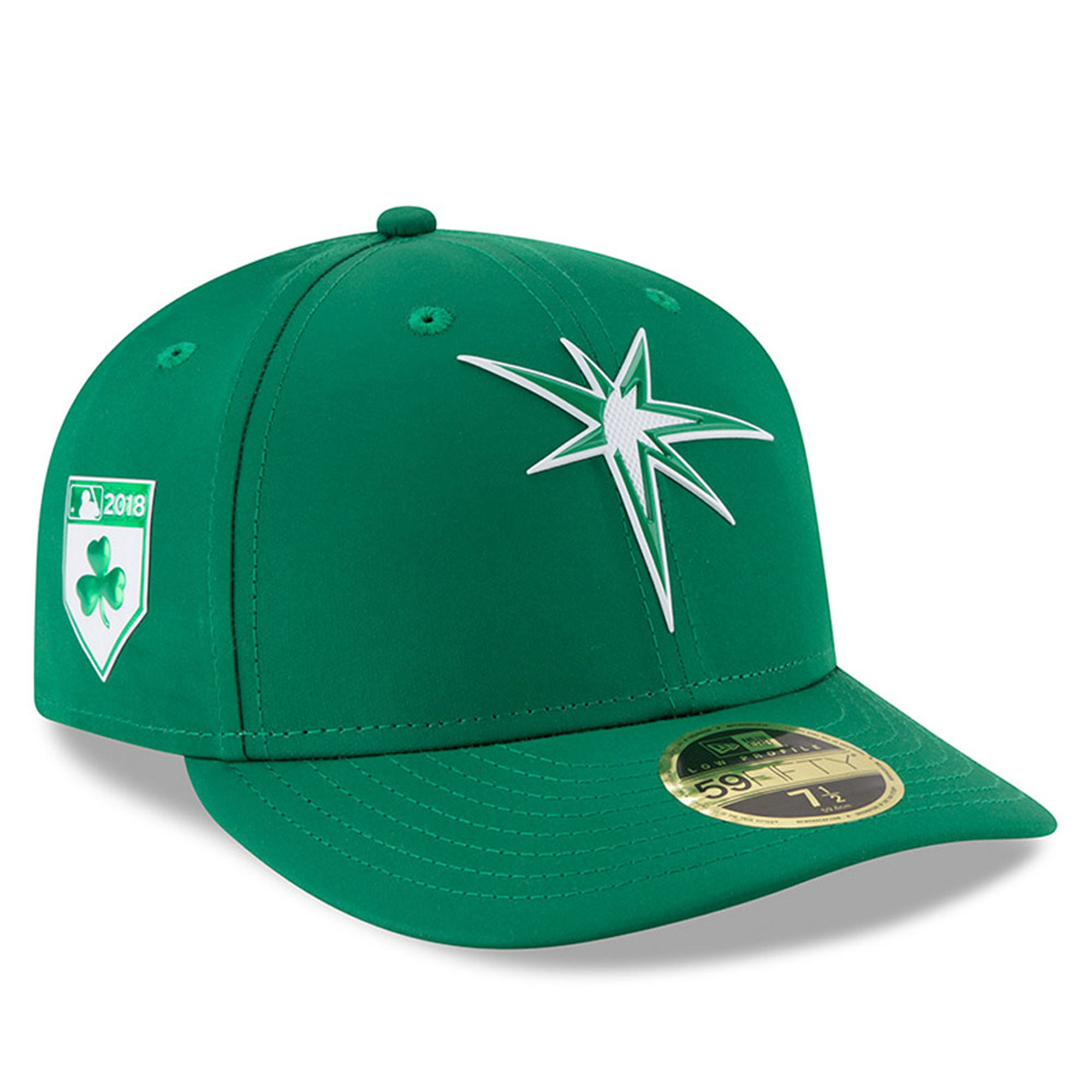 Tampa Bay Rays New Era 2018 St. Patrick's Day Prolight Low Profile 59FIFTY Fitted Hat - Green