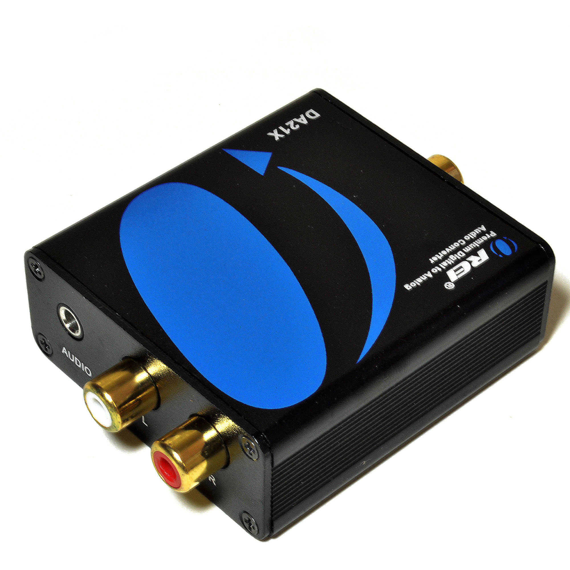 Orei DA21X Premium Optical SPDIF/Coaxial Digital to RCA L/R Analog Audio Converter with 3.5mm Jack