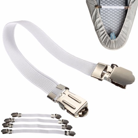 ☆ 4x Ironing Board Cover Clip Fasteners Tight Fit Elastic Brace Ties Straps Grip - image 5 de 10