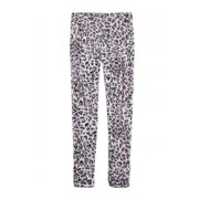 Justice Girls Printed Stretch Athletic Track Pants, pink, 5