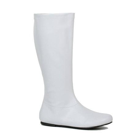 Womens Avenge White Superhero Costume Boots (Superhero Boot Covers)