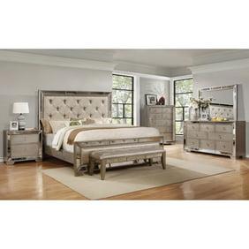 Best Master Furniture Brazil Taupe Bronze 5 Pcs Bedroom Set, King