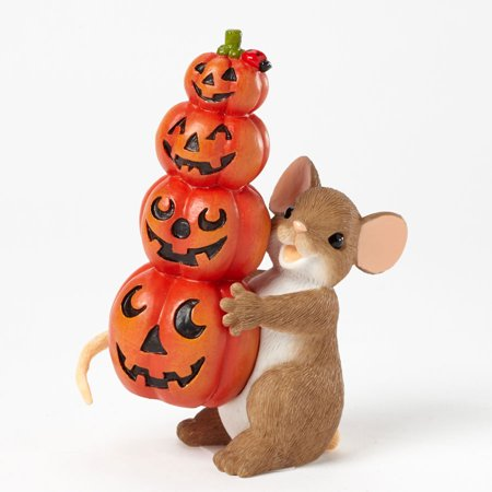 Charming Tails Halloween (Charming Tails 40411570 Halloween Stacked Pumpkins)