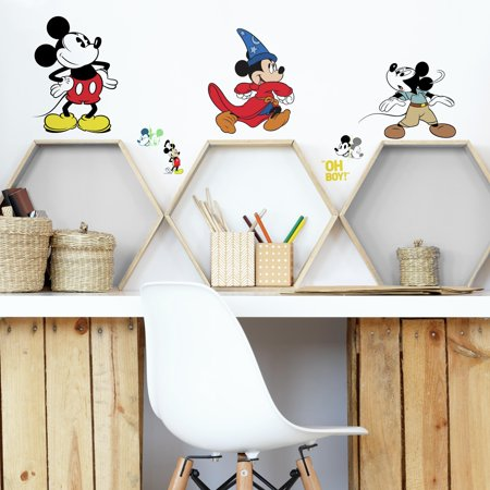 Mickey Mouse The True Original 90Th Anniversary Peel and Stick Wall Decals - Mickey Mouse Wall Decals