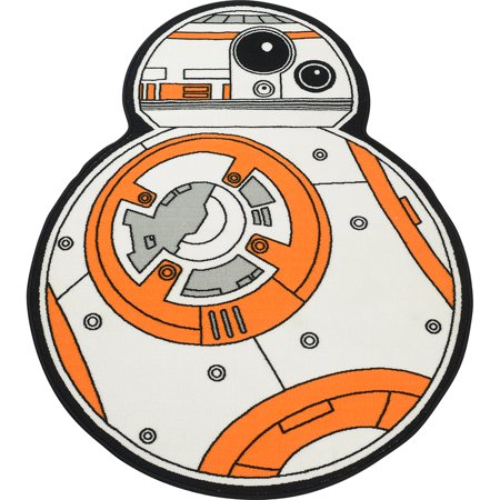Star Wars Cut Outs (Star Wars White BB-8 Cut Out Rug 52.5