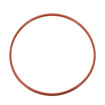 Silicone O-Ring 150mmx143mmx3.5mm VMQ Seal Rings Sealing Gasket Red - image 2 of 2