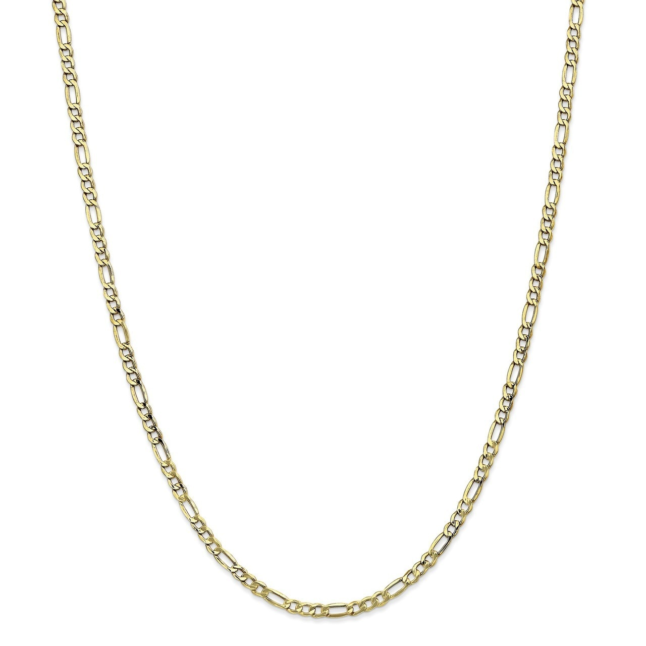 Width 3.5mm Details about  /10K Yellow Gold Light Figaro Chain
