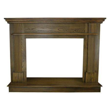 Ashley 56 1/2 in. x 40 1/2 in. Wood Mantle in Medium Oak
