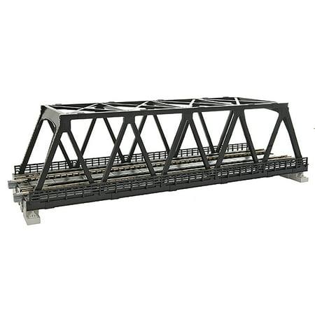 Double Track Truss Bridge (Kato N Scale UniTrack Train Track Double Truss Bridge 9-3/4in Black)