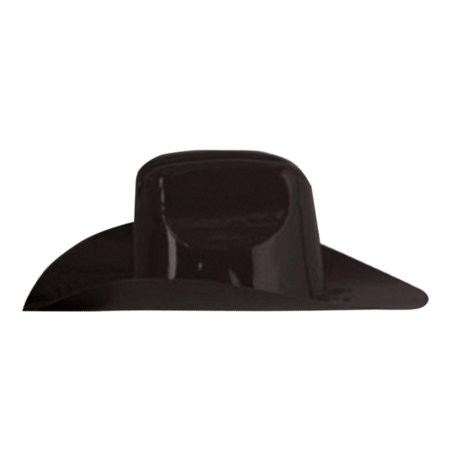 Club Pack of 48 Solid Black Miniature Plastic Cowboy Hat Party Decorations