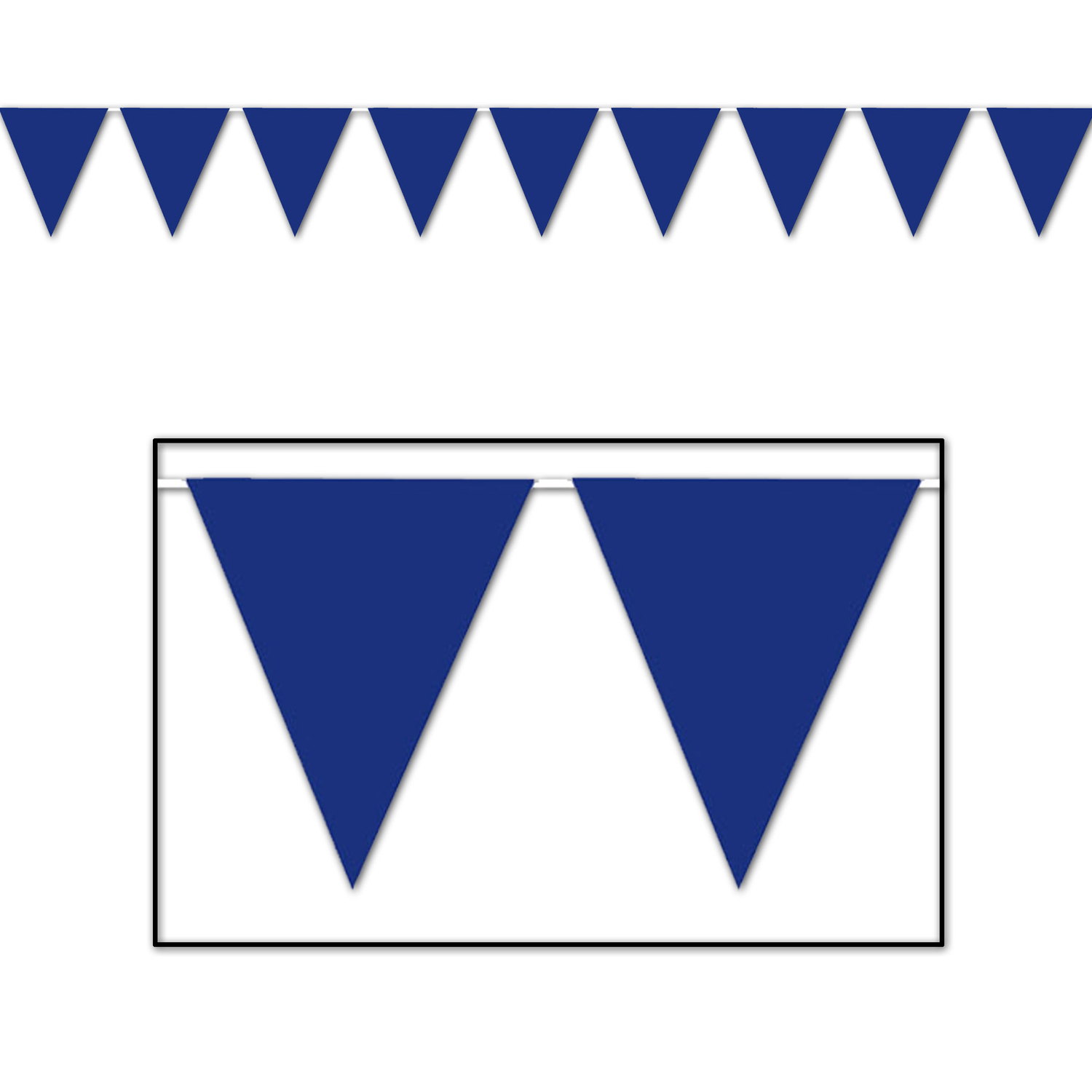 Blue Pennant Banner (Pack of 12) - image 1 de 1