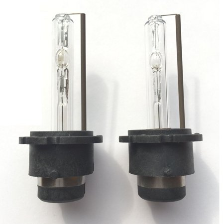 Euro Hid Xenon Headlight Lights - 2x D2S 35W 6000K HID Xenon Replacement Low/High Beam Headlight Light Bulbs White