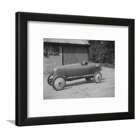 Andre Lombard in his Salmson single seater racing car, Brooklands, Surrey, 1922 Framed Print Wall Art By Bill