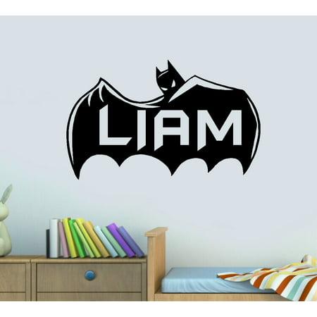 Decal ~ Batman Cape ( Custom Name ) Wall Decal 13