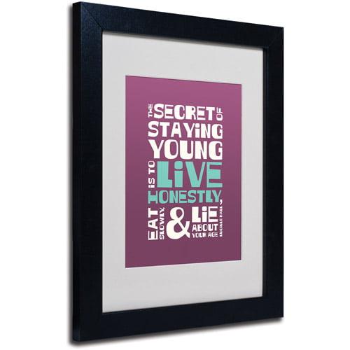 "Trademark Fine Art ""Live Honestly II"" Canvas Art by Megan Romo, Black Frame"