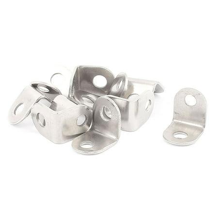 18mm x 18mm Shelf Support Corner Brace Joint Metal Right Angle Bracket 10Pcs ()