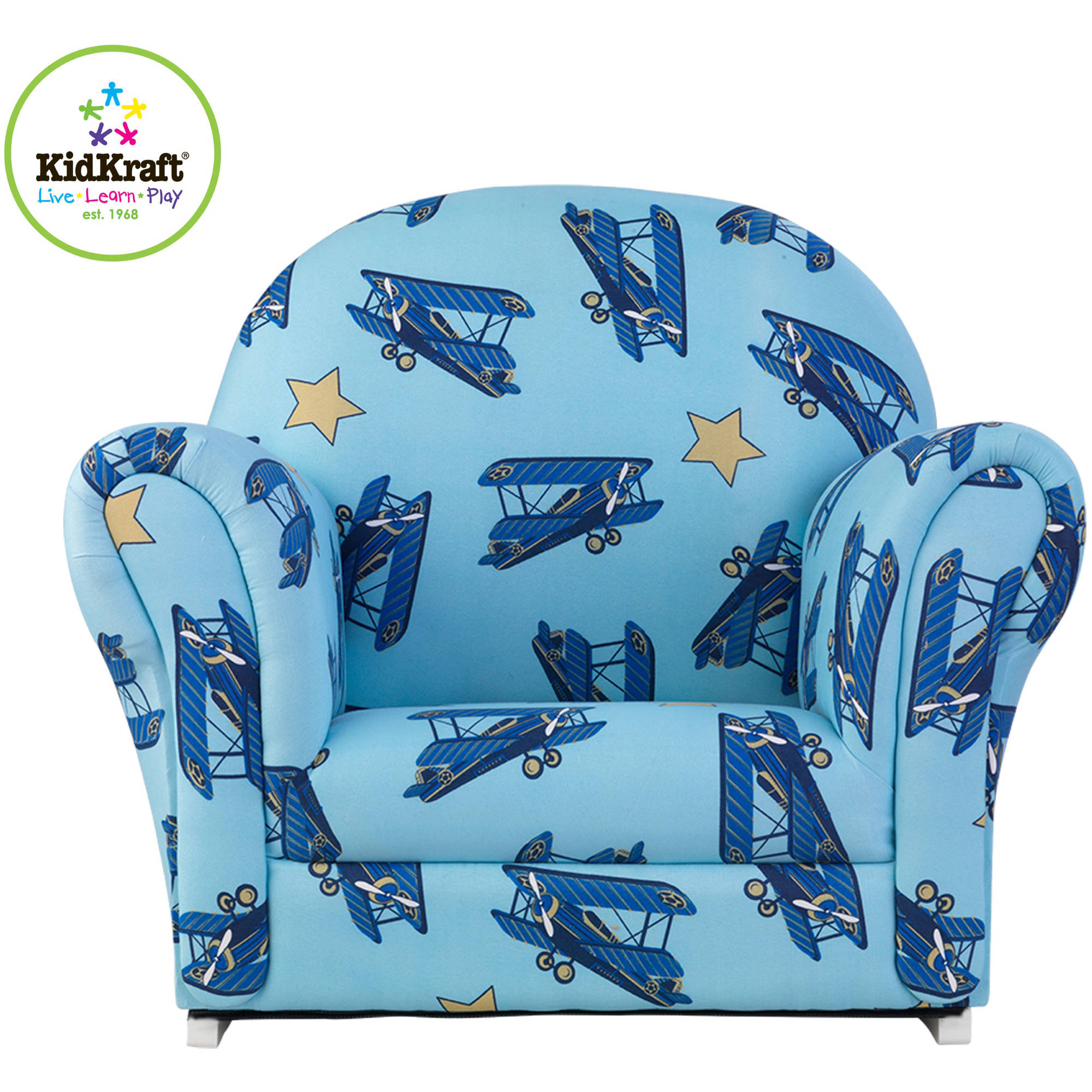 KidKraft Upholstered Rocker, Airplanes