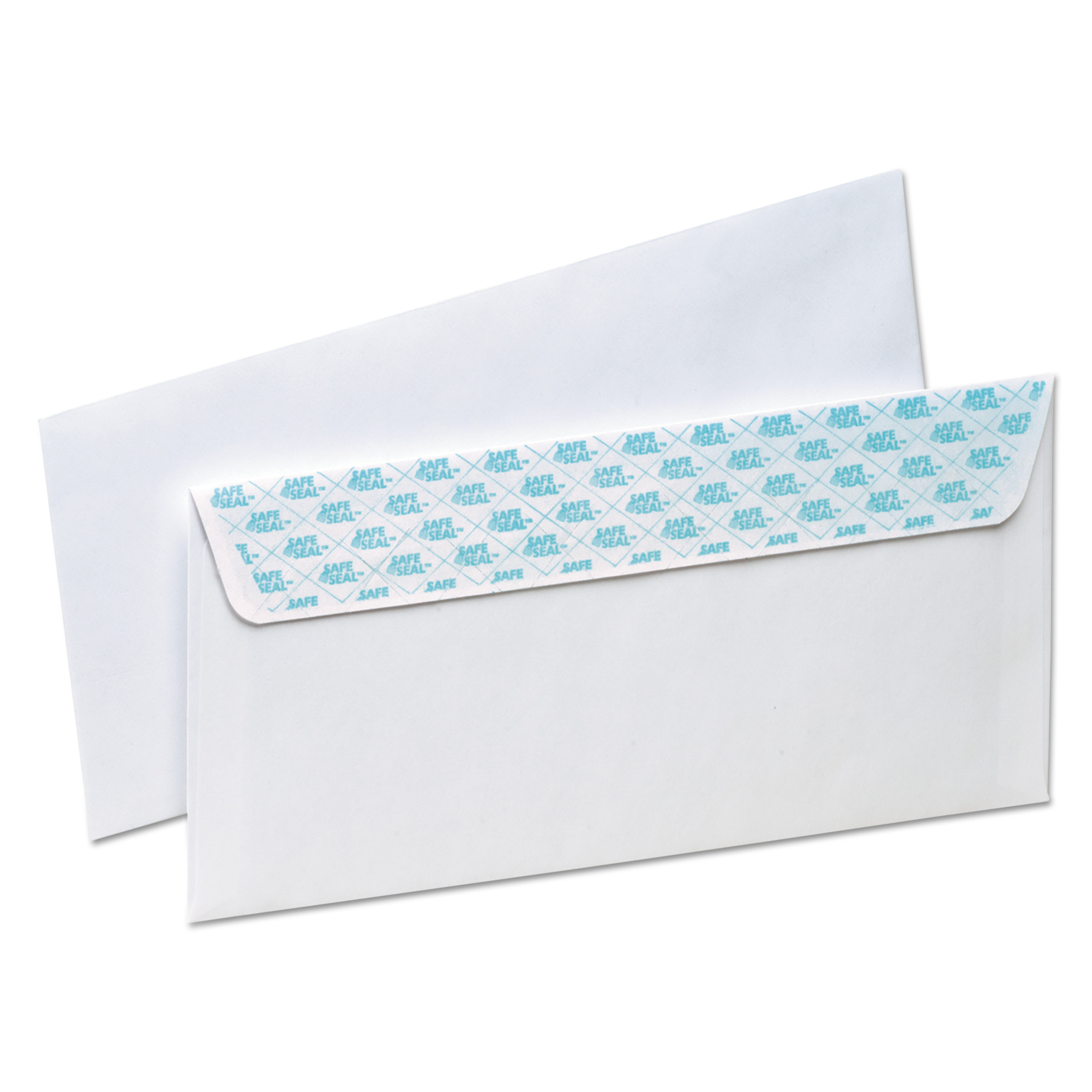 Ampad Gold Fibre SafeSeal Release & Seal Envelope, #10, 4 1/8 x 9 1/2, White, 100/Box