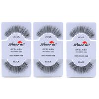 4f122f07c7c Product Image LWS LA Wholesale Store 3 Pairs AmorUs 100% Human Hair False  Long Eyelashes # 747L